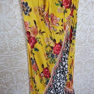 Anthropologie Dresses - Farm Rio Sunlit Floral Wrap Maxi Dress XS